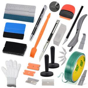 17PC Window Tinting Tint Tools Kit for Auto Car Vinyl Wrap Film Scraper Squeegee