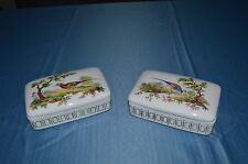2 Candy Dishes Porcelain of Limoges Embellished Hand Painted by Monique Astier