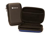 Black Portable Hard Drive Case Bag Holder Water Shock Resistant - Lifetime Warra
