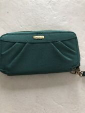 Travelon Zip Around Wallet With RFID Blocking Green NWOT