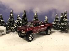 2000 Chevy Silverado 4x4 Lifted Custom 1/64 Diecast Truck Farm Off Road 4WD Mud