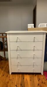 tallboy chest of drawers white