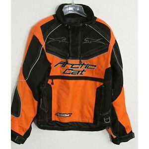 Arctic Cat A-Tex Jacket - Men's Small - Black Orange Reflective Arcticwear Snow