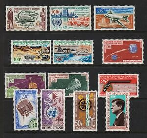Mauritania - 13 Airmail sets, cat. $ 35.75