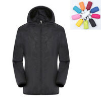 Mens Womens Windproof Jacket Quick-drying Outdoor Bicycle Sports Rain Coat S-4XL