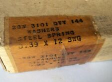"""NOS 3/8"""" Single Coil Steel Spring Washer AGS162/F qty 144 (G/1) SP47J"""