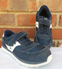 SAUCONY  Baby Jazz Lite Sneakers Running Shoes Navy Blue White Toddler Size 10.5