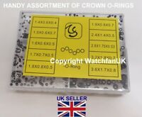 Micro Crown Pusher Stem Watch Gasket Assortment 10 sizes 300 gaskets #265