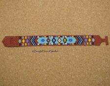 Peyote Bracelet - Handwoven Miyuki / Toho Beads - Native - Tribal - Terra-Cotta