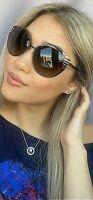 New FENDI FF 0017/S 7ROHA 58mm Silver Designer Women's Sunglasses Italy
