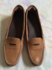 Women Shoes Cole Haan Size 7.5 AA Leather Loafers Slip On Comfort Made in India