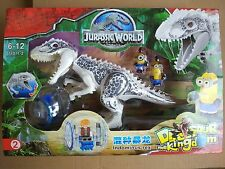 White Jurassic World Building Toys Assembly Puzzle Gray Indominus Rex fits lego