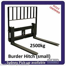 BURDER STYLE QUICK HITCH PALLET FORKS WITH LOADGUARD FOR SMALL HITCH 2500kg