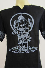 Ganesh Ganesha OM Meditation Men T shirt black L Gt67