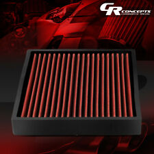 RED HI-FLOW PANEL CABIN AIR FILTER FOR 06-18 TOYOTA CAMRY/COROLLA/LEXUS/SCION