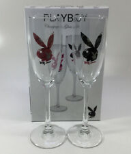 PLAYBOY CHAMPAGNE GLASSES BOXED SET GENUINE PRODUCTS