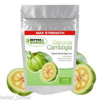 Garcinia Cambogia 1000mg Per Capsule 60% HCA Weight Loss Diet Slimming Pills