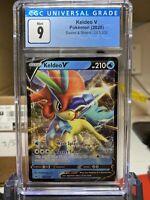 2020 Keldeo V Rare Holo Sword & Shield Pokémon Card #053 CGC 9 MINT - PSA BGS