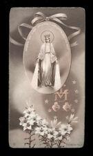 "santino-holy card""""ediz. NB serie ALFA  n.57 MADONNA DELLA MEDAGLIA MIRACOLOSA"