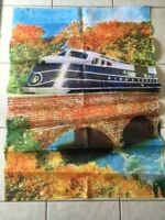 Autumn Train Decorative House Flag