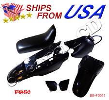 Yamaha PW50 PY50 PW 50  Plastic Fender Body Seat Gas Tank Kit BLACK