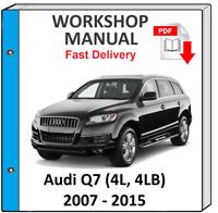 2009 Betriebsanleitung DEUTSCH 2008 2007 Audi Q7 Bedienungsanleitung 2006
