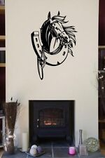 Lucky Horseshoe Wall Sticker Mural Decal for Horsebox Staple Wall Car Van Boat