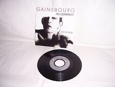 """EP / 45T GAINSBOURG """" no comment /kiss me hardy """" / 1984 /  VG++"""