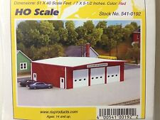 Pikestuff (HO-Scale) #541-0192 Fire Station Kit - RED - NIB