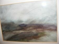 VINTAGE ABSTRACT PASTEL WATERCOLOUR PAINTING BY ISAIAH G CALLEJA FRAMED GORGEOUS