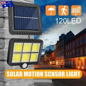 120 LED Solar COB Wall Light Outdoor Garden Security PIR Motion Sensor Lamps AU