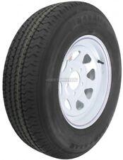 Trailer Wheel & Tire #355 ST205/75R14 LRC 5 Bolt Hole Steel White Striped Spoke