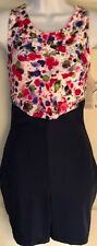 WAS $39.95 NWT! GK ELITE LADIES DANCE CHEER VELVET PRINT NAVY NYLO BIKETARD AXL