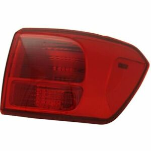 FIT FOR SEDONA 2016 2017 2018 REAR TAIL LAMP OUTER RIGHT PASSENGER