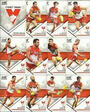 2018 select LEGACY SYDNEY SWANS SERIES 2 COMMON TEAM SET 12 cards AFL