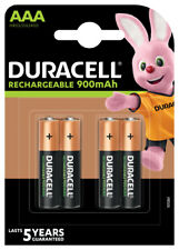 4 x Duracell 900mAh Akku Micro AAA Micro HR03 DX2400 1,2V Schnurlos Telefon
