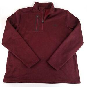 Callaway Quarter Zip Mens Med Maroon Golf Athletic Pullover Polyester w/ Pockets