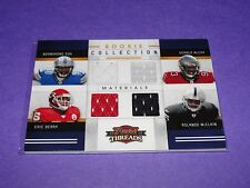2010 Threads Ndamukong SUH/McCoy/Eric BERRY/McClain Quad Rookie Jersey/299 RC