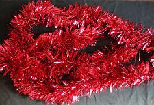 Rojo Navidad Espumillón 2 Metros Guirnalda Decoración Árbol Navidad