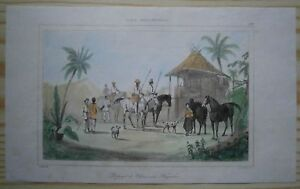 1836 print DEPARTURE OF TAGALOG HUNTERS, PHILIPPINES (#291)