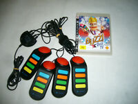 Ps3 Playstation 3 Buzz Buzzers x 4 + USB Dongle and Buzz! Quiz TV Game