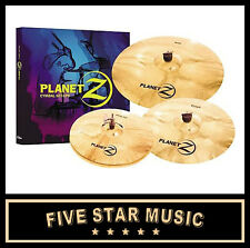 "ZILDJIAN PLZ4PK PLANET Z CYMBAL PACK 14"" HIHATS 16"" CRASH 20"" RIDE CYMBAL SET"