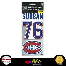 (HCW) Montreal Canadiens P.K. Subban Perfect Cut Decal/Sticker Set of 2 NHL 4x4