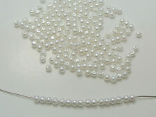 10000 Pure White Faux Pearl Round Beads Imitation Pearl 3mm Seed Beads Spacer