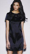 Satin Party Patternless Short Sleeve Dresses for Women