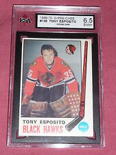 1969-70 OPC #138 Tony Esposito Rookie RC KSA Graded ENM+ 6.5