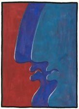 "Dimitris C. Milionis ""GIANTS I"" Signed Study Gouache Painting Paper Greek 1991 s"