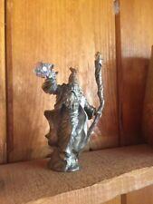 Ray Lamb Perth Pewter Wizard throwing Fireball, vintage 1987. Fa62