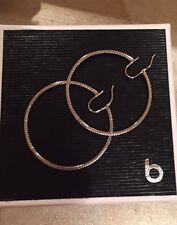 Large Diamond Hoop Earrings White Gold .50ctw