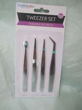 Beading & Jewelry Tool, Tweezer Set Assorted, 4-Piece